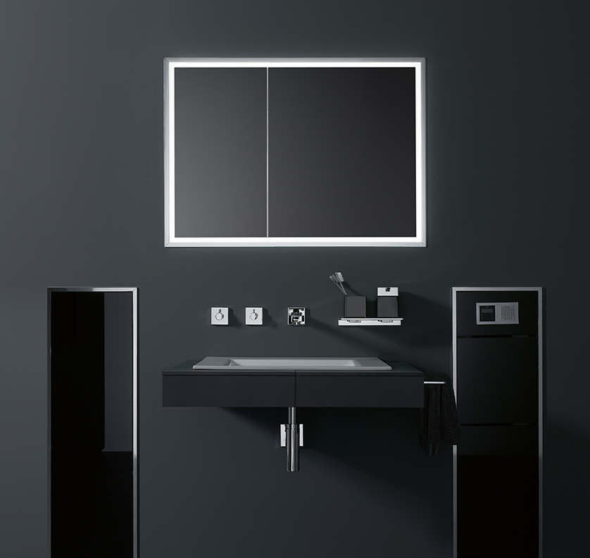 LED illuminated mirror cabinet from the asis prestige range